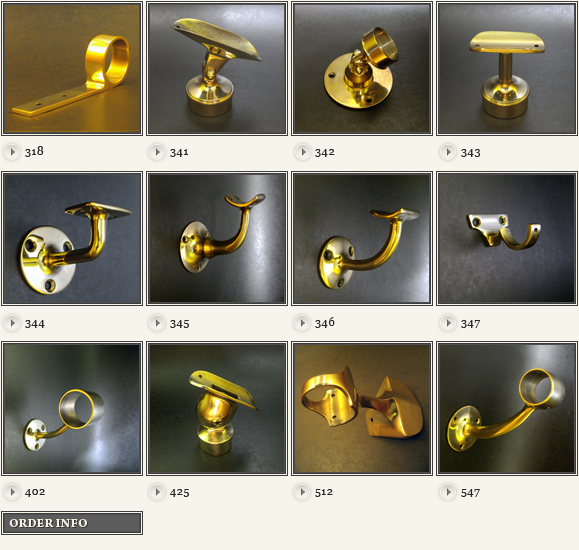 brass hand rail fittings images